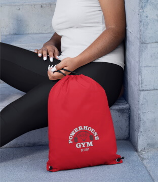 Woman with Powerhouse Gym Accessory Bag