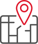 Icon of a Map with a Map Marker Placed on it