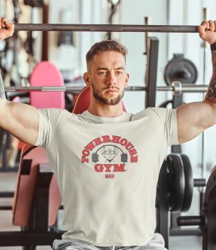 Man in a Powerhouse T-Shirt